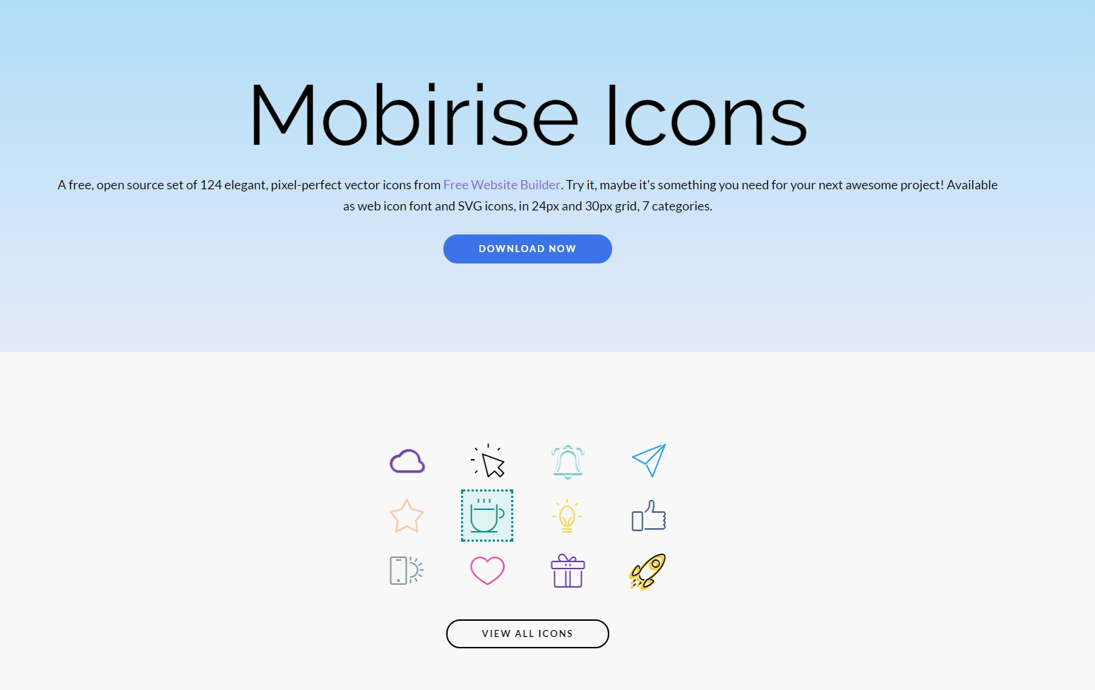 mobirise icons bundle