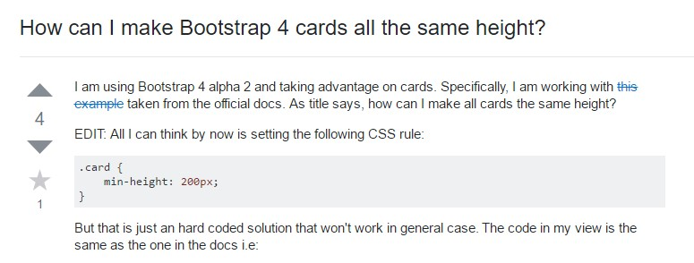 Insights on  precisely how can we form Bootstrap 4 cards  all the same tallness?