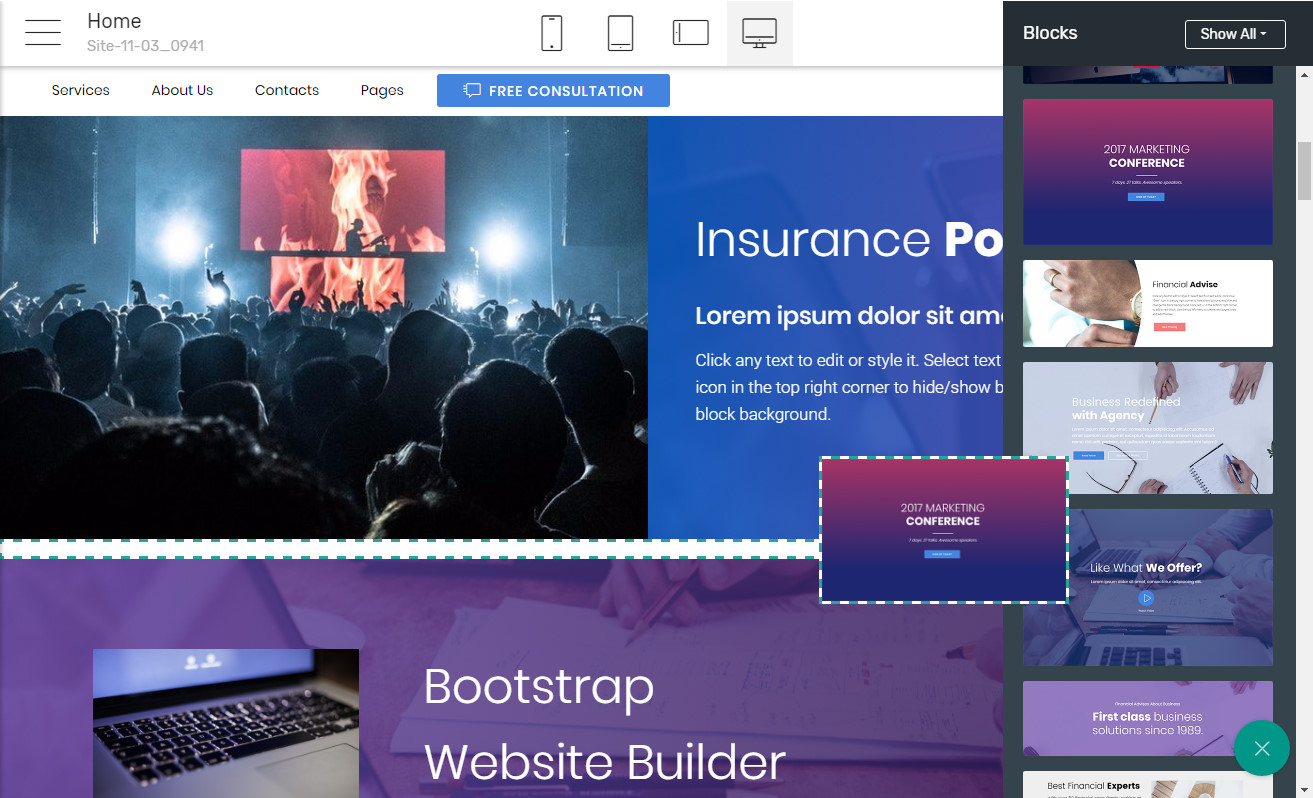 Bootstrap Page Software